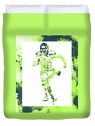 Russell Wilson Seattle Seahawks Water Color Art 1 Duvet Cover