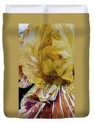 Russet And Umber Iris Duvet Cover