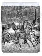 Russia: Troika, 1888 Duvet Cover