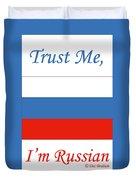 Russian Flag Duvet Cover