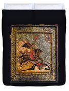 Russian Icon: Demetrius Duvet Cover