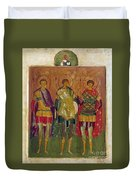 Russian Icon: Saints Duvet Cover