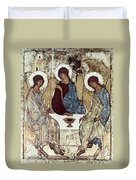 Russian Icons: The Trinity Duvet Cover