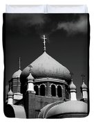 Russian Orthodox Church Bw Duvet Cover