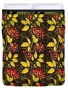 russian pattern Hohloma Duvet Cover