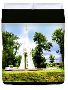 Russian Peace Tower Duvet Cover