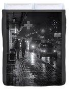 Russian Street Scene At Night 2015 Duvet Cover