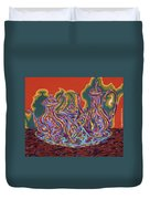 Russian Tea And Coffee Set Duvet Cover