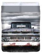 Rust And Proud - 62 Chevy Fleetside Duvet Cover