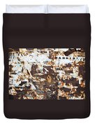 Rust And Torn Paper Posters Duvet Cover