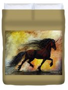 Rust Unicorn Duvet Cover