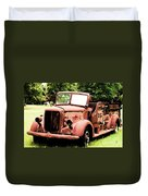 Rusted Mack Fire Engine Duvet Cover