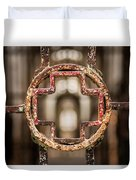 Rusted Prison Gate Duvet Cover