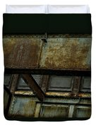 Rusted Steel Support Structure Duvet Cover