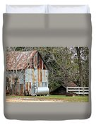 Rusted Tin Shed In Burnt Corn Duvet Cover