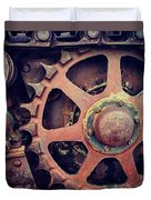 Rusted Tractor Wheel Duvet Cover