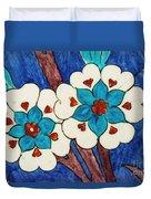 Rustem Pasha Mosque Flower Tile Duvet Cover