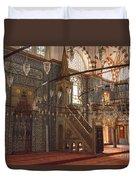 Rustem Pasha Mosque Interior Duvet Cover