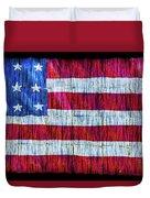 Rustic American Flag Duvet Cover
