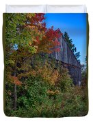Rustic Barn Above The Fall Colors Duvet Cover