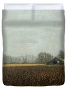 Rustic Barn On A Rainy Day Duvet Cover