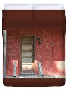 Rustic In Red Duvet Cover