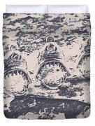 Rustic Nautical Artwork Duvet Cover