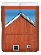 Rustic Red Barn Duvet Cover