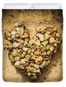 Rustic Rock Romance Duvet Cover