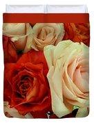 Rustic Rose Bouquet Duvet Cover