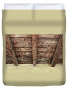 Rustic Wood Beams Duvet Cover