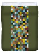 Rustic Wooden Abstract Tower Duvet Cover