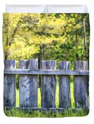 Rustic Wooden Fence At Old World Wisconsin Duvet Cover