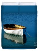 Rustic Wooden Row Boat. Duvet Cover