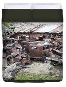 Rusting Antique Cars Duvet Cover
