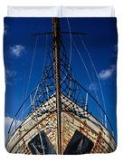 Rusting Boat Duvet Cover