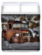 Rusting In Winter Duvet Cover