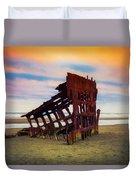 Rusting Shipwreck Duvet Cover
