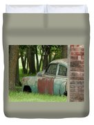 Rustmobile And Shack Duvet Cover