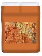 Rusty Bark Abstract Duvet Cover