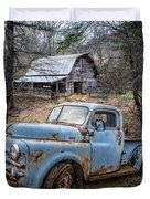 Rusty Blue Dodge Duvet Cover