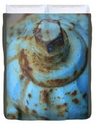 Rusty Blue Fire Hydrant Duvet Cover