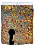 Rusty Key-hole Duvet Cover