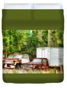 Rusty Old Abandoned Truck 1 Duvet Cover
