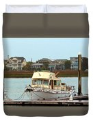 Rusty Old Boat Duvet Cover