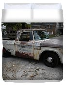 Rusty Old Dodge Duvet Cover