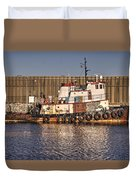 Rusty Old Tug Boat Duvet Cover