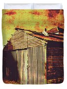 Rusty Outback Australia Shed Duvet Cover