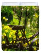 Rusty Plow In Daffodils  Duvet Cover