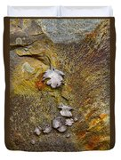 Rusty Red Peridotite With Lichen Duvet Cover